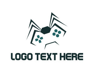 Gamer - Spider Game  logo design