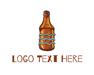 Cider - Old Beer Bottle logo design