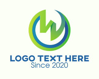 Life - Environmental Group Letter W logo design
