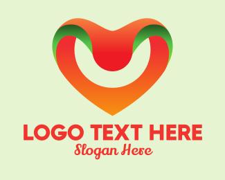 Dating Website - Modern Digital Heart  logo design