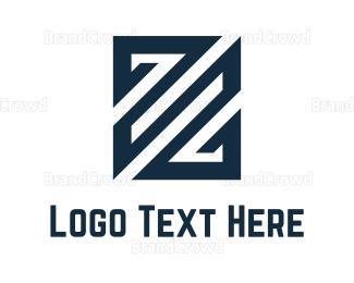 Lettermark Z - Stripes Letter Z logo design
