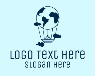 Voyage - International World Travel Balloon logo design