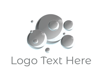 Cleaning Service - Grey Bubbles logo design