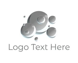 Soap - Grey Bubbles logo design