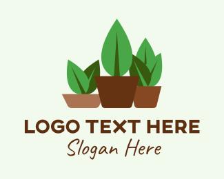 Home Gardening - Small Plant Pots  logo design