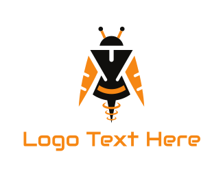 Martian - Bee Android logo design