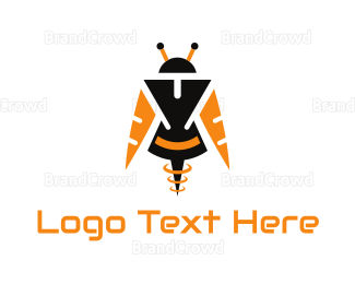 Fiction - Bee Android logo design