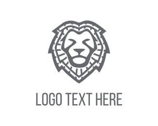 Strength - Lion Face logo design