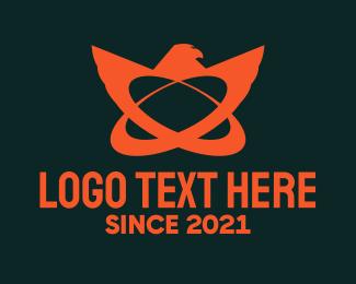 Atom - Atomic Bird logo design