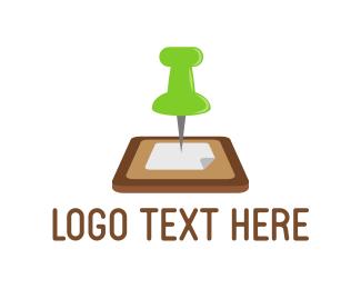 Management - Pin Board logo design