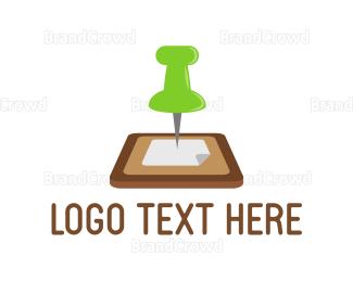 Board - Pin Board logo design