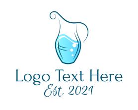 Restaurant - Water Jug Pitcher logo design