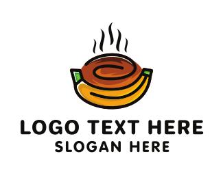 Grocery Store - Papaya & Banana logo design