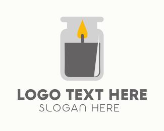 Mason - Candle Jar logo design