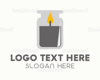 Spiritual - Candle Jar logo design
