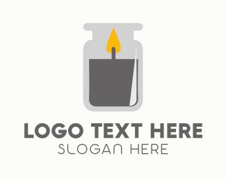 Jar - Gray Candle Jar logo design