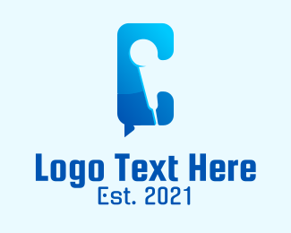 Comedy - Microphone Letter C logo design