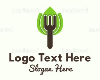 Organic - Organic Fork logo design