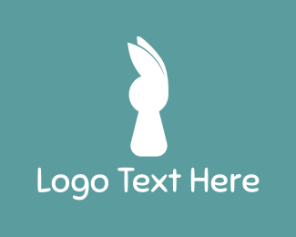 Ear - White Rabbit logo design