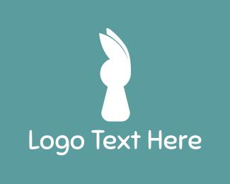 Hare - White Rabbit logo design