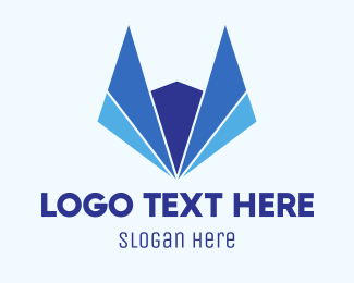 Wolf - Abstract Blue Fox logo design