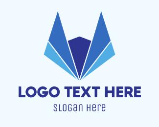Fox - Abstract Blue Fox logo design