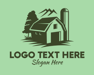 Dairy Farmer - Rustic Green Farmhouse logo design
