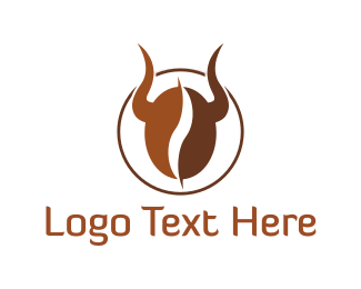 Horn - Bull Coffee logo design
