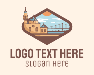 Landmark - Istanbul City Landmark logo design