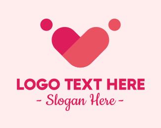 Handdrawn - People Heart Romance  logo design
