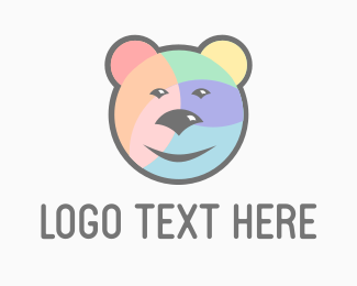 Gentle - Rainbow Bear logo design