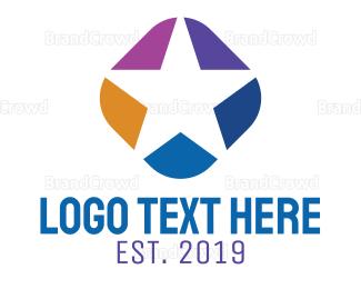 Celebrity - Colorful Star logo design