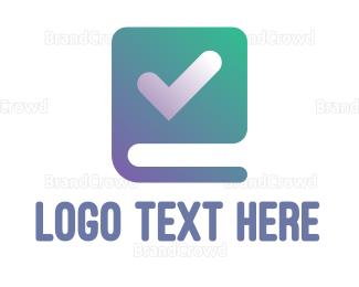 Checklist - Check Book logo design