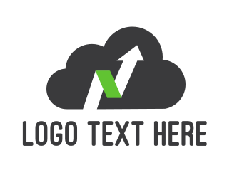 Green Cloud - Up Cloud logo design