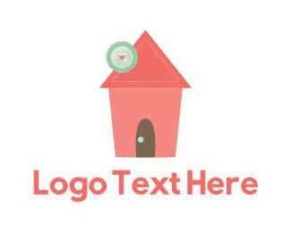 Seamstress - Sewing House logo design