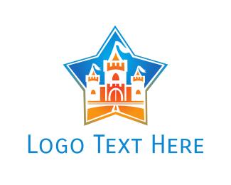 Kingdom - Castle & Star logo design