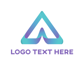 3d - 3D letter A logo design