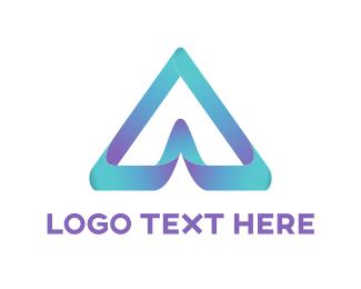 Gradient - 3D letter A logo design