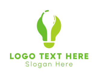 Clever - Green Spoon Light Bulb logo design