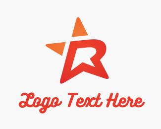 Lettermark - R Star logo design