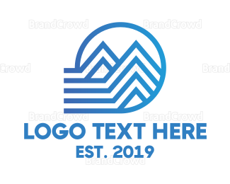 Interior Designer - Blue Stripe Housing logo design