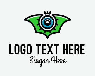 Security Camera - Photography Bat Wing logo design