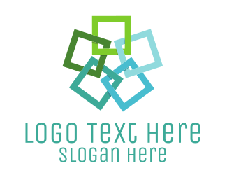 Showroom - Square Flower logo design