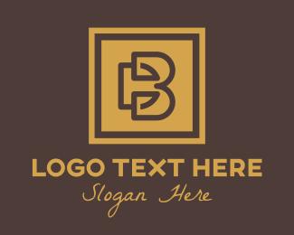 Db - Gold Frame D & B logo design