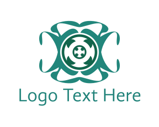 Teal - Spin Circle  logo design