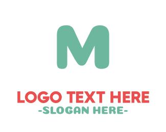 Playground - Turquoise Letter M logo design