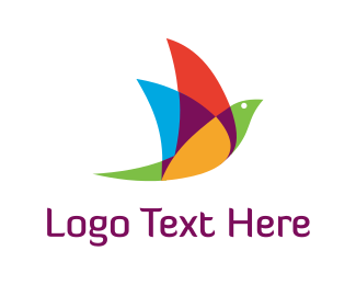 Aviation - Colorful Bird logo design