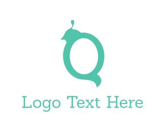 Letter Q - Bird Letter Q logo design