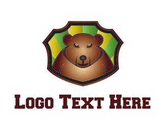 Baseball - Bear Cartoon logo design