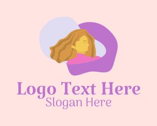 Shampoo - Woman Hairstyle Salon logo design
